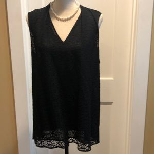Black sleeveless lace blouse from Halogen